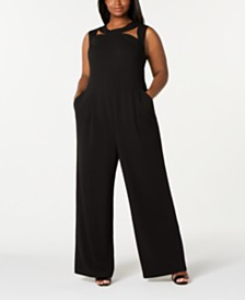 Calvin Klein Trendy Plus Size Cutout Jumpsuit
