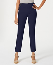 JM Collection Embellished Pull-On Pants, Created for Macy's