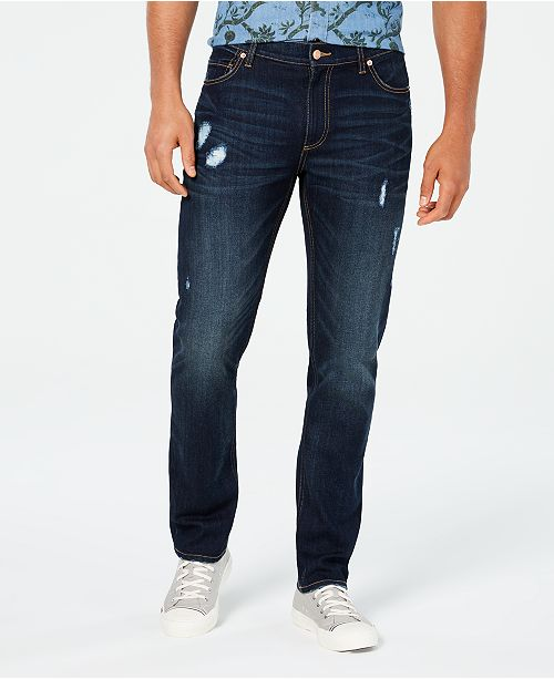 American Rag Perry Straight-Fit Ripped Jeans with Recycled Repreve, Created for Macy's