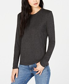 Weekend Max Mara Long-Sleeve Crewneck Top