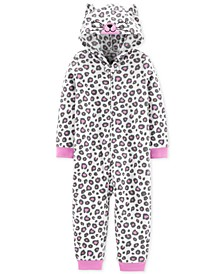 Toddler Girls 1-Pc. Leopard-Print Pajama
