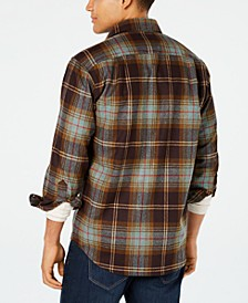 Men's Lodge Plaid Wool Pocket Shirt