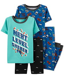 Little & Big Boys 4-Pc. Next Level Cotton Pajama Set