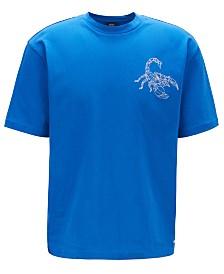 BOSS Men's Relaxed-Fit Scorpion-Print T-Shirt