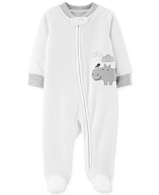 Baby Boys & Girls 1-Pc. Footed Hippo Coverall