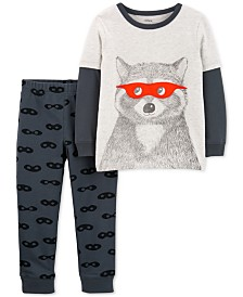 Carter's Baby Boys 2-Pc. Cotton Raccoon-Print T-Shirt & Printed Pants Set