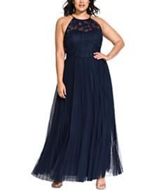 City Chic Trendy Plus Size Angelic Maxi Dress