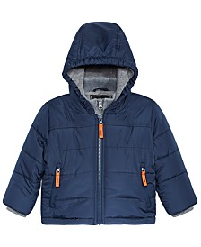 S Rothschild & CO Baby Boys Hooded Bubble Jacket With Fleece Vest