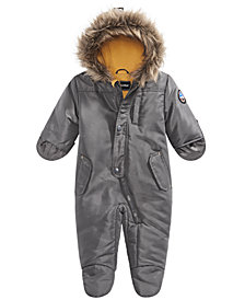 S Rothschild & CO Baby Boys Hooded Footed Pram With Faux-Fur Trim