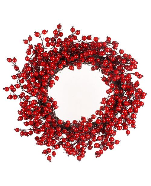 Napco Big Red Water Berry Wreath