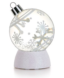 Napco LED Snowflake Ornament Water Globe