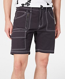 INC Men's Topstitched Denim Shorts, Created for Macy's