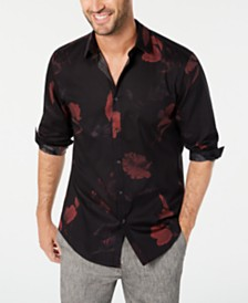 I.N.C. Men's Dark Foliage Shirt, Created for Macy's