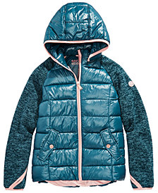 Michael Michael Kors Big Girls Hooded Puffer Jacket