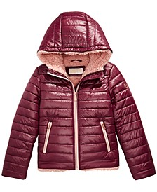 Toddler Girls Faux-Fur-Lined Hooded Puffer Jacket