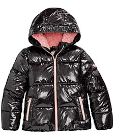 Big Girls Shiny Puffer Jacket