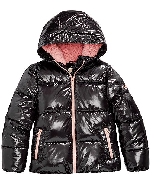 Michael Kors Big Girls Shiny Puffer Jacket