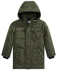 Michael Michael Kors Big Boys Faux-Fur-Trim Hooded Snorkel Jacket