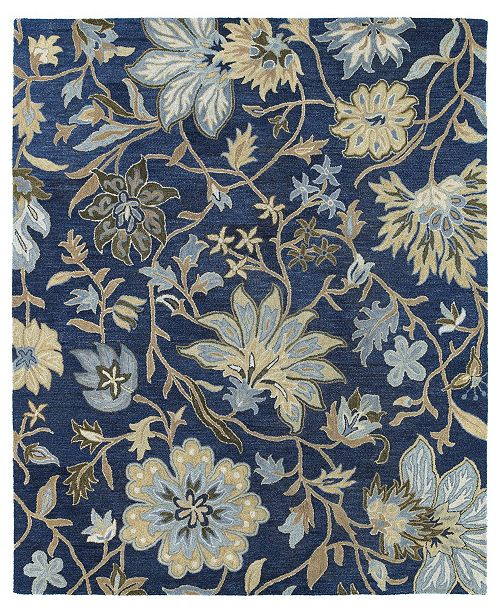 "Kaleen Brooklyn Brody-04 Blue 7'6"" x 9' Area Rug"