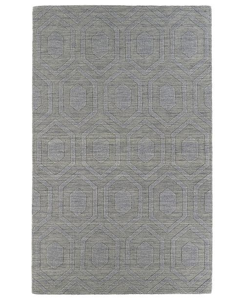 "Kaleen Imprints Modern IPM01-83 Steel 3'6"" x 5'6"" Area Rug"