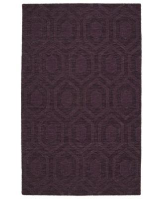 Imprints Modern IPM01-95 Purple 5' x 8' Area Rug