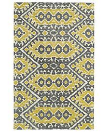 """Global Inspirations GLB01-28 Yellow 5' x 7'9"""" Area Rug"""