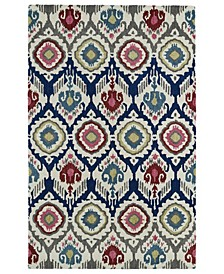 "Global Inspirations GLB04-86 Multi 5' x 7'9"" Area Rug"