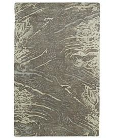 "Brushstrokes BRS01-49 Brown 9'6"" x 13' Area Rug"