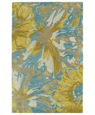 """Brushstrokes BRS06-05 Gold 9'6"""" x 13' Area Rug"""