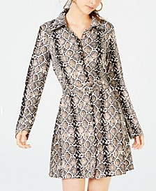 Juniors' Printed Shirtdress