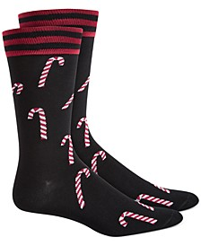 Men's Candy Cane Socks, Created for Macy's