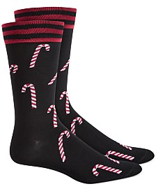 Bar III Men's Candy Cane Socks, Created for Macy's