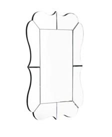 Abbyson Living Zinnia Scalloped Rectangle Wall Mirror