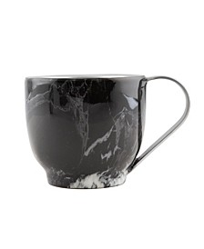 Double Wall Insulated Black Marble Cappucino Cup