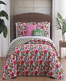 Kailua 5-Pc. Queen Floral Reversible Quilt Set