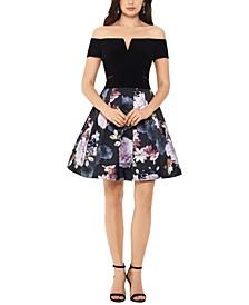 Floral-Skirt Dress