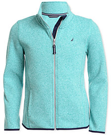 Nautica Big Girls Zip-Up Sweater