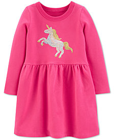 Carter's Toddler Girls Cotton Sequin Unicorn Dress