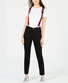 Dickies High-Rise Skinny Jeans with Suspenders