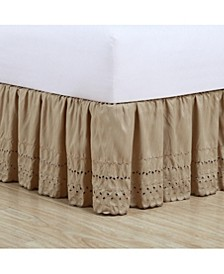 Ruffled Eyelet King Bed Skirt
