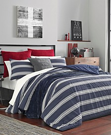 Craver Navy Duvet Cover Set, Full/Queen
