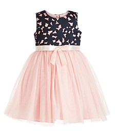Little Girls Laser Cut Tulle Dress