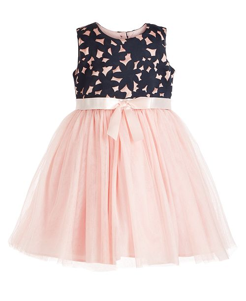 Bonnie Jean Toddler Girls Laser Cut Tulle Dress