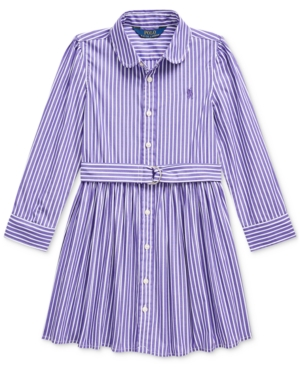 Kids 1950s Clothing & Costumes: Girls, Boys, Toddlers Polo Ralph Lauren Little Girls Bengal Stripe Dress $41.25 AT vintagedancer.com