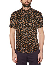 Men's Stretch Tiger-Print Shirt