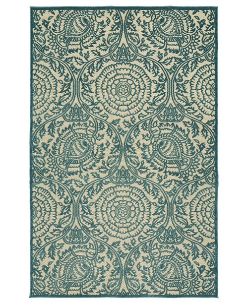 "Kaleen A Breath of Fresh Air FSR102-17 Blue 2'1"" x 4' Area Rug"