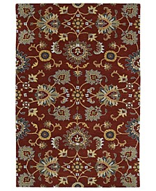 Middleton MID02-25 Red 3' x 5' Area Rug