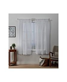 "Itaji Sheer Rod Pocket Top Curtain Panel Pair, 54"" x 63"""