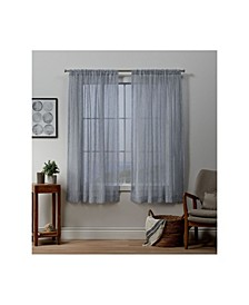 "Itaji Sheer Rod Pocket Top 54"" X 63"" Curtain Panel Pair"