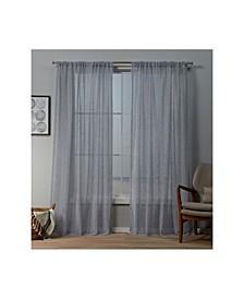 "Itaji Sheer Rod Pocket Top Curtain Panel Pair, 54"" x 84"""